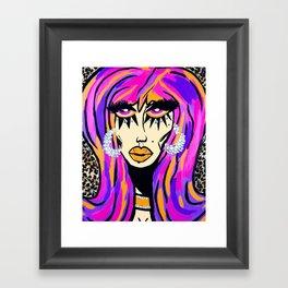 disco queen Framed Art Print