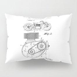Motorcycle Patent Art Pillow Sham