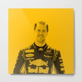 Sebastian Vettel Metal Print