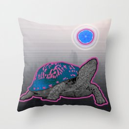 California Pleasure Turtle Throw Pillow