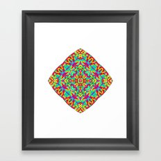 Four Owls Mandala Framed Art Print