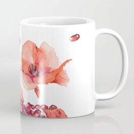 My heart is full of flowers / pomegranate and poppies Coffee Mug