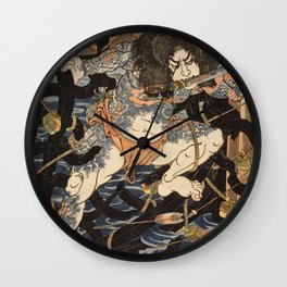 Utagawa Kunisada - One Hundred And Eight Heroes From The Chinese Tale. Wall Clock