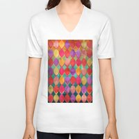 poem V-neck T-shirts featuring Full Colour Poem by micklyn