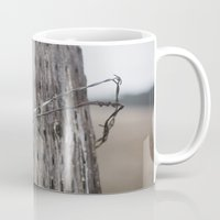 the wire Mugs featuring wire  by Stephanie Dana