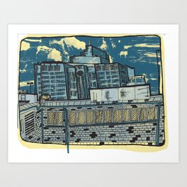 Atlanta From a Window Art Print