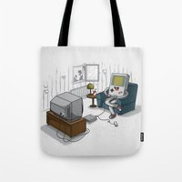 computer Tote Bags featuring True Computer Love by Robert Richter – Artist & Illustrator