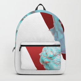 Aesthetic Greek Bust Gift Vaporwave Glitch effect statue Backpack