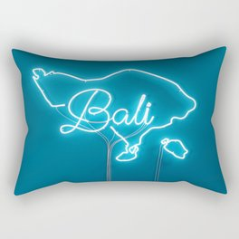 Bali Neon Sign Rectangular Pillow