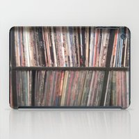records iPad Cases featuring Records by Loudesthowl