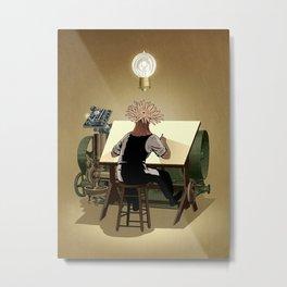 The aspirant to draftsman Metal Print