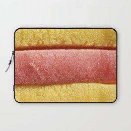 Yellow Light Red Colored Bubble Gum Laptop Sleeve