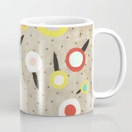 Flowers Vintage Brown Polka dots Coffee Mug