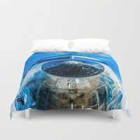 dc Duvet Covers featuring Douglas DC-3 Aircraft by digital2real