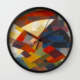 Otto Freundlich Composition, 1930 Colorful Geometric Painting Wall Clock