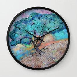 Divi Divi Tree at Sunset Wall Clock