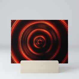 Red Shockwave Mini Art Print