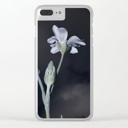 PURITY WHITE FLOWER Clear iPhone Case