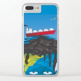 oil tanker Clear iPhone Case