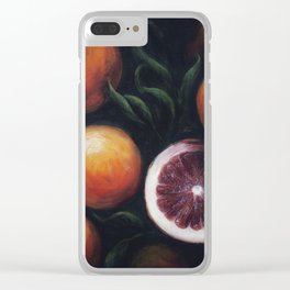 Blood Oranges Clear iPhone Case