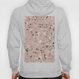 Pink Quartz and Marble Terrazzo Hoody