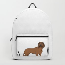 Hannover sweatdog, heartbeat, sweat dog Backpack