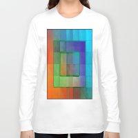 aperture Long Sleeve T-shirts featuring Aperture #2 Fractal Pleat Texture Colorful Design by CAP Artwork & Design