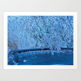 Malibu Icicles Art Print