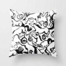 Carousel Chaos Throw Pillow