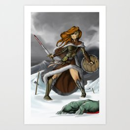 Battle Goddess of the Snow Art Print