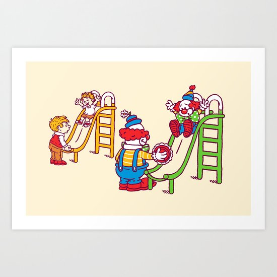 Playground pranks Art Print
