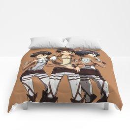 LeviErenMikasa Comforters
