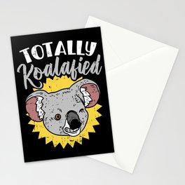 Totally Koalafied Koala Bear Funny Teacher Pun Gift Job Humor Stationery Cards