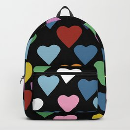 Hearts Heart Black Backpack