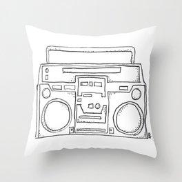 ghettoblaster Throw Pillow