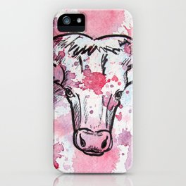 Pink Cow iPhone Case