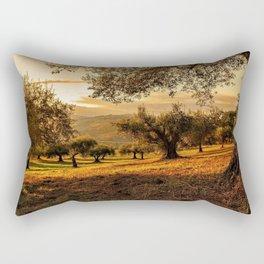 Olive Groves Along the Mountainside Rectangular Pillow