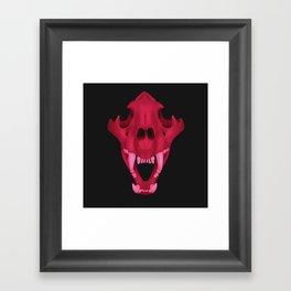 pink tiger skull Framed Art Print