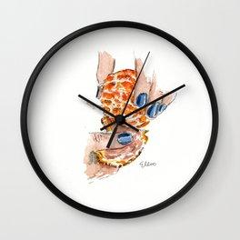 Blue Nails Wall Clock