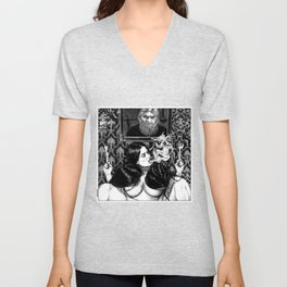 asc 935 - Les psychopompes (Evocation of the spirit of a murdered sybarite) Unisex V-Neck
