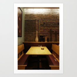 a chicago table Art Print