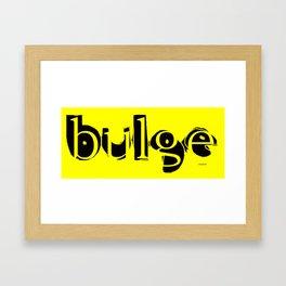 bulge5 Framed Art Print
