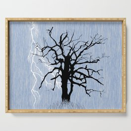 Gnarled Tree and Lightning Serving Tray