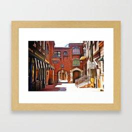 City Street Framed Art Print