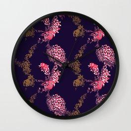 Animals & Pills by Yutaka Sho Wall Clock