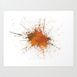 Splatter #12 Art Print