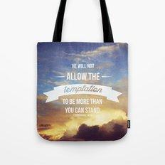 1 Corinthians 10:13 Tote Bag