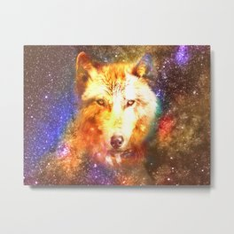 Cosmic wolf Metal Print