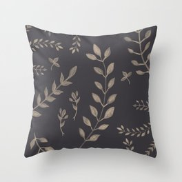 Light Sepia Leaves Pattern #1 #drawing #decor #art #society6 Throw Pillow