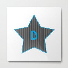 Initials | Star | D Metal Print